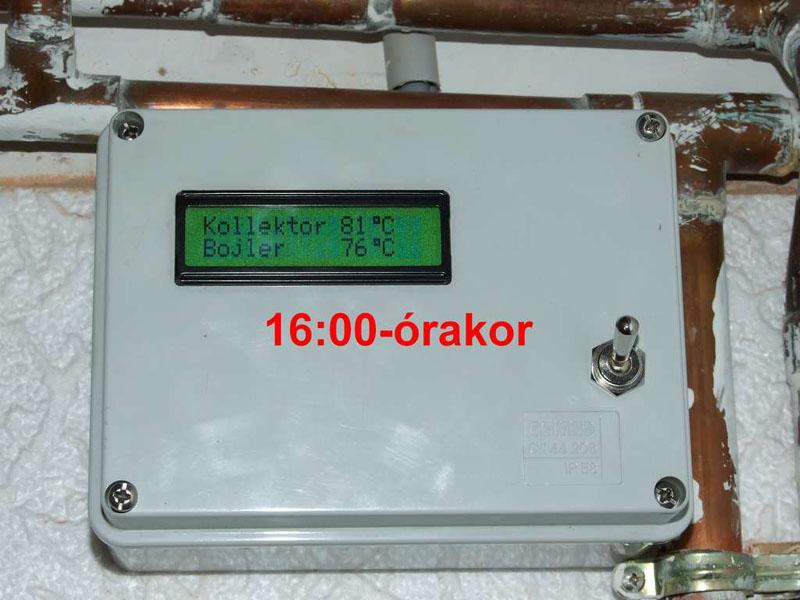 A vezérlő dobozt (elektronikát) célszerű jól látható helyre telepíteni