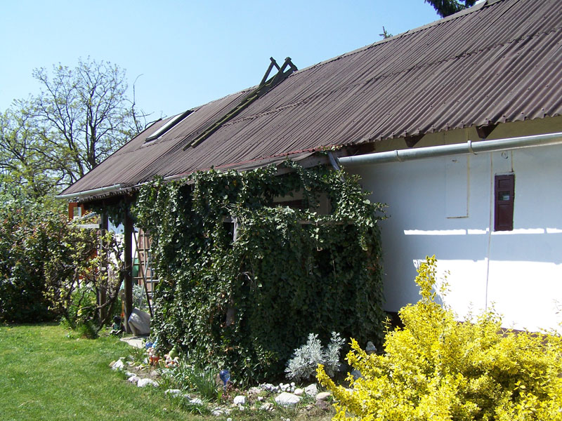 A tető telepítés előtt