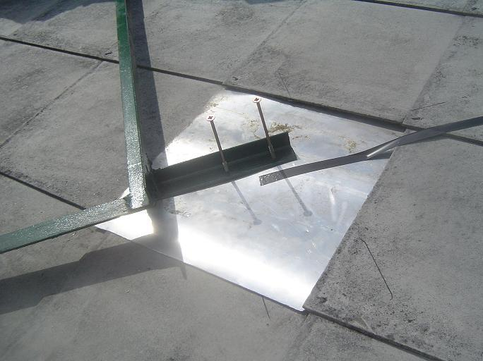 a palát kicseréltük alumínium lemezre