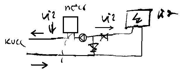A fagyállós kör bekötési vázlata