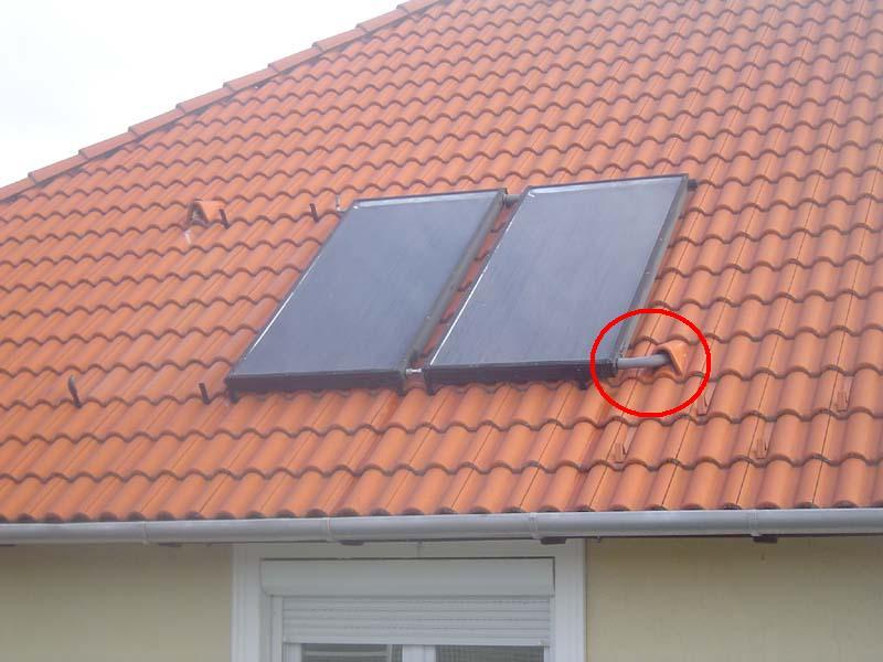 A szétfagyott napkollektort leszerelték